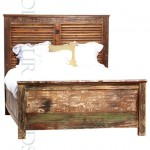 Chunky Bed in Reclaimed Wood | Bed Furniture Manufacturers