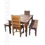 Classic Reclaimed Dining Set | Restaurant Tables With Chairs