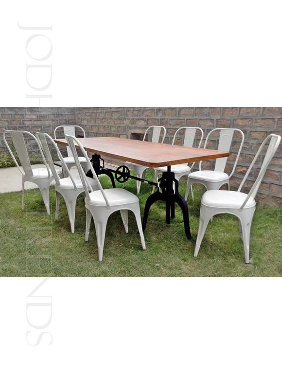 Industrial Dining Set | Cafe Bistro Table And Chairs