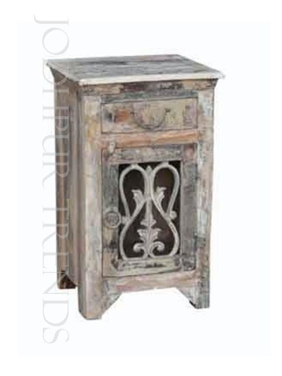 Vintage Wooden Nightstand | Antique Bedside Furniture