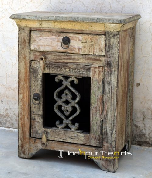 Wooden Nightstand Antique Bedsides