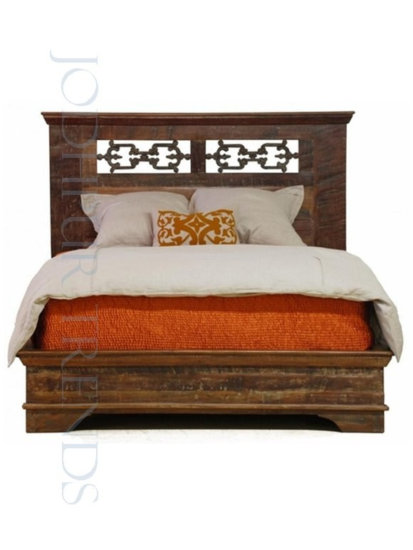 Wooden Reclaimed Bed | Bed Headboard Manufacturers India