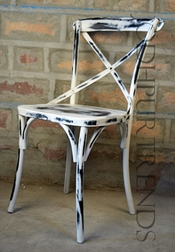 Cafe Chair in Distressed Finish | Cafeteria Chairs