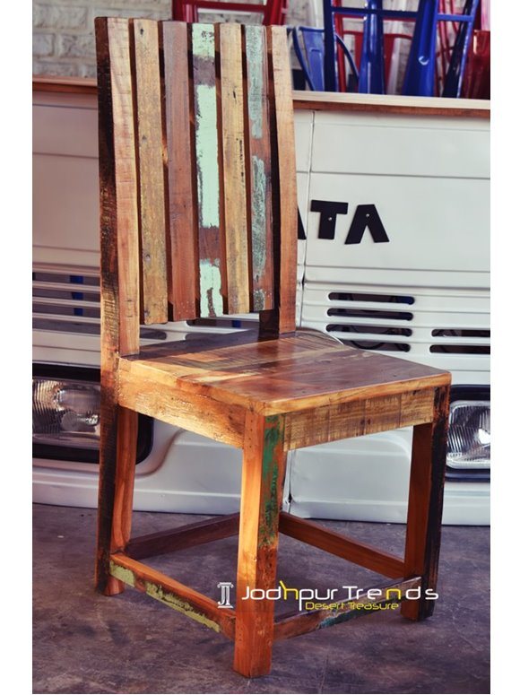 Reclaimed Indian Chair | Commercial Restaurant Chairs For Sale