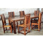 Reclaimed Six Seater Dining Set | Restaurant Dining Sets