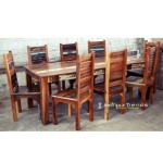 Multicolor Reclaimed Dining Set | Restaurant Dining Tables Chairs