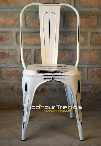 Distressed Metal Chair | Metal Cafe Table And Chairs