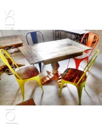 Cafeteria Dining Set | Restaurant Bistro Table And Chairs