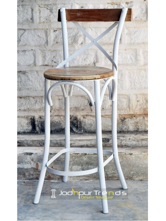 High Bar Chair | Metal And Wood Restaurant Chairs