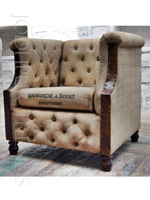 Designer Tub Sofa | Indian Canvas and Leather Sofa