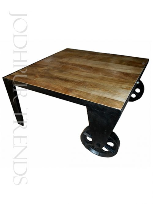 Vintage Wheel Coffee Table | Commercial Cafe Furniture