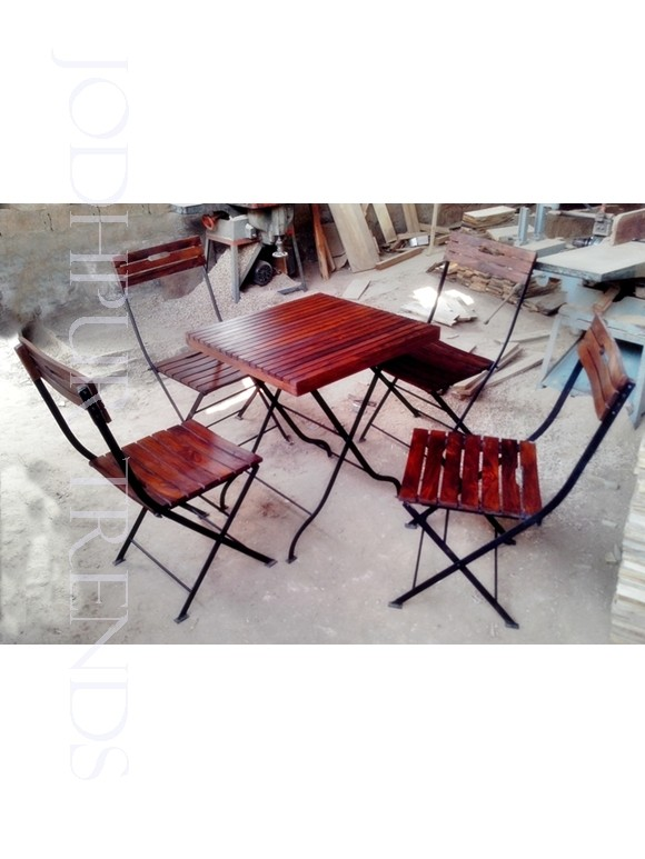 Folding Dining Table Set | Cafe Table And Stools