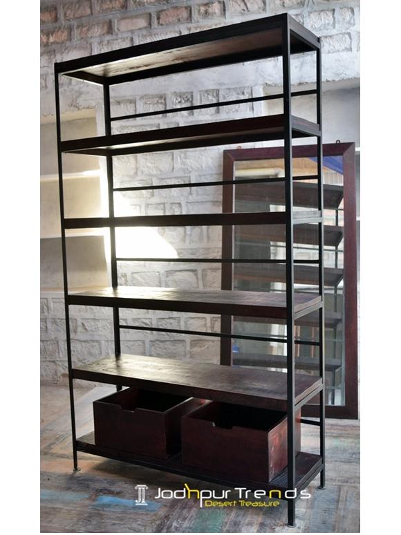 Bookcase in Mango Wood | Hotel Furniture Suppliers