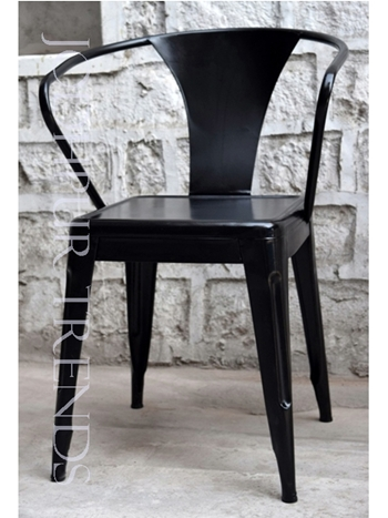 Designer Outdoor Bistro Chair | Black Metal Restaurant Chairs