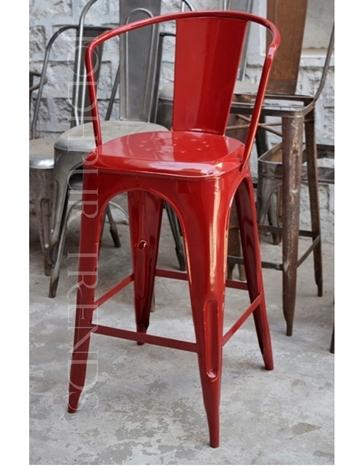 Red Bar Chair | Garden Furniture Cast Iron