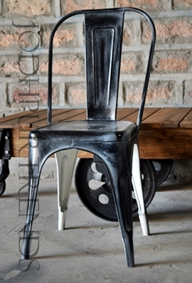 Black Distress Tolix Chair | Pub Bar Furniture