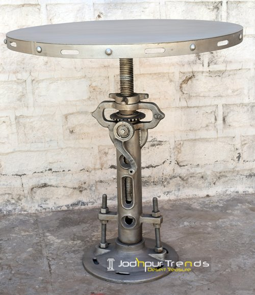 bar table industrial iron cafe restaurant india (5)