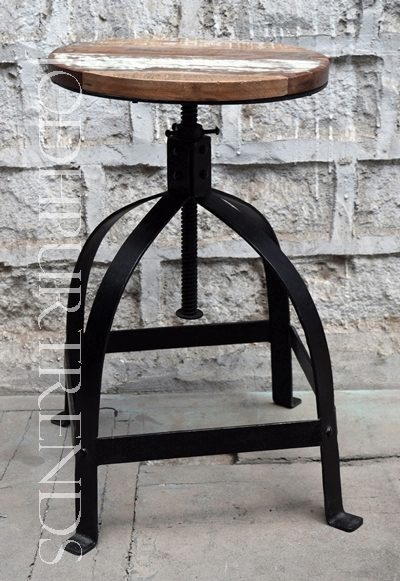 Wooden Iron Stool | Commercial Bar Furniture For Sale
