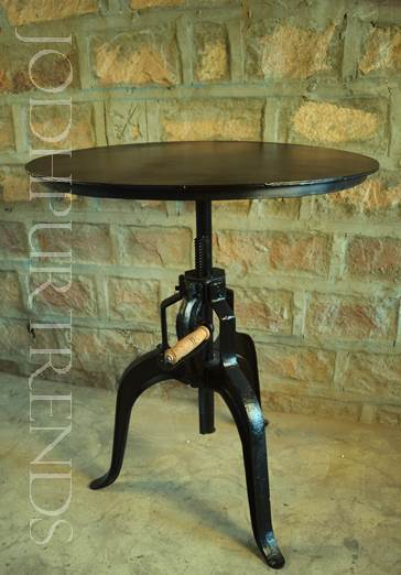 Crank Dining Table cum Bar Table | Industrial Crank Furniture