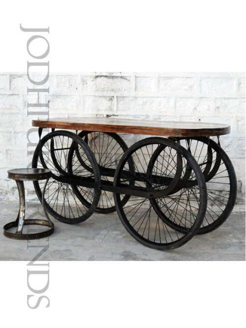 Wheeled Cart Accent | Industrial Cafe Furniture