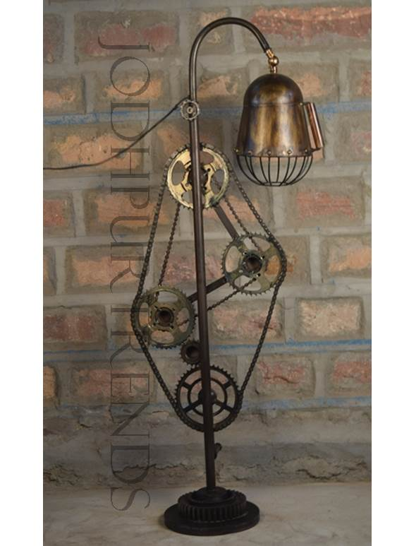 Lamp in Cycle Design | Antique Industrial Furniture