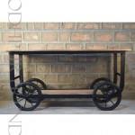 F&B Cart with Wheels | Industrial Furniture Shelf