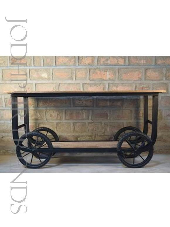 F&B Cart with Wheels | Industrial Furniture Shelf