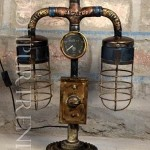 Industrial Pipe Lamp   Industrial Furniture For Bar