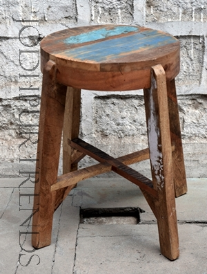 Recycled Mini Stool | Cafe Furniture Bangalore