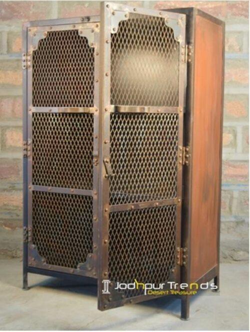Mesh Almirah in Metal | Industrial Furniture Cabinets