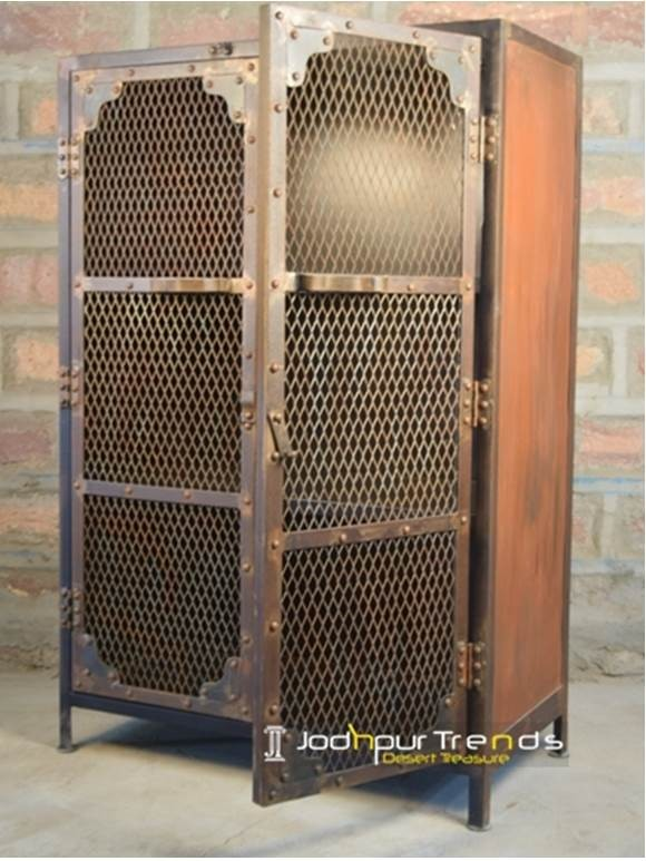 Mesh Almirah in Metal | Industrial Furniture Cabinets