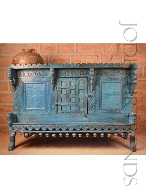 Antique Indian Storage Trunk | Home Vintage Furniture