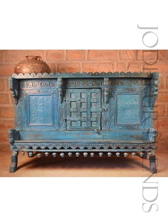 Antique Indian Storage Trunk | Home Vintage Furniture