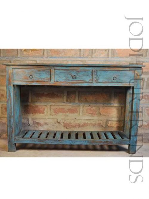 Handpainted Lobby Console Table | Vintage Hotel Furniture
