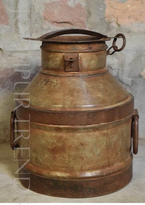 Antique Milkcan Area Accents |Vintage Iron Furniture
