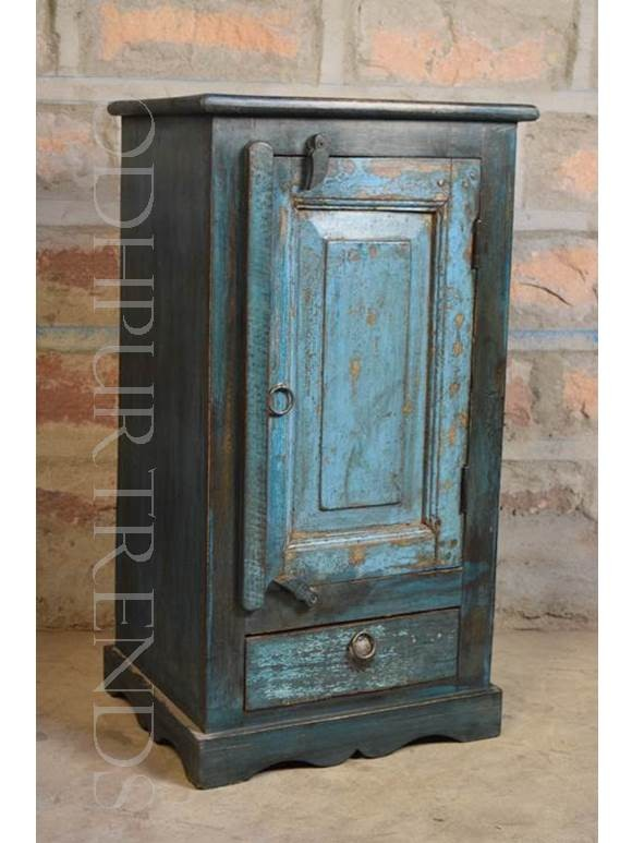 Handpainted Nightstand | Indian Painted Furniture