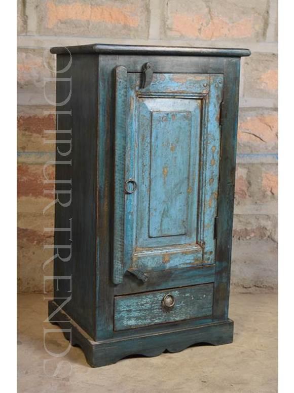Handpainted Nightstand | Indian Painted Furniture
