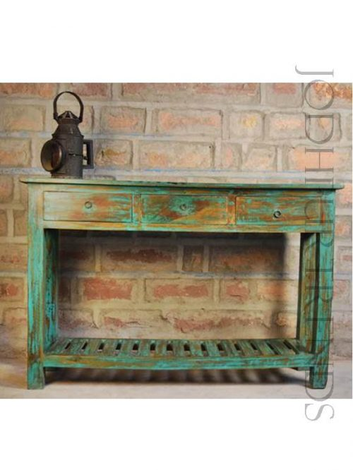 Handpainted Console Table | Home Furniture Vintage