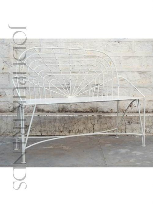 Restaurant Bench in White | White Cafe Chairs