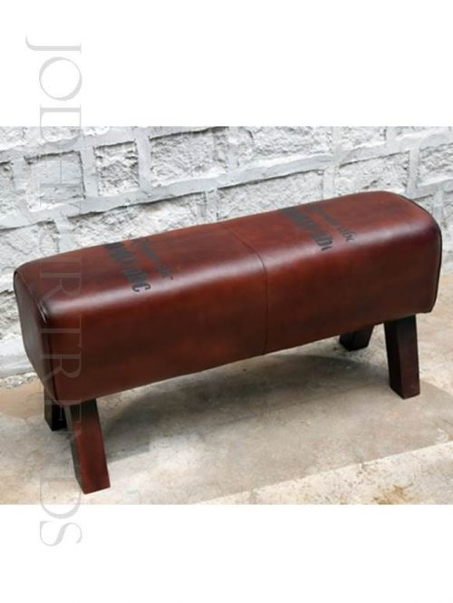 Footstool in Leather | Furniture Leather