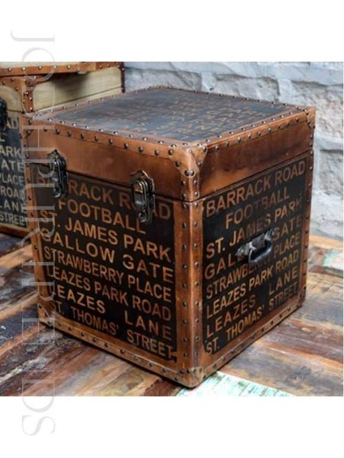 Vintage Ottoman in Leather | Resto Chairs