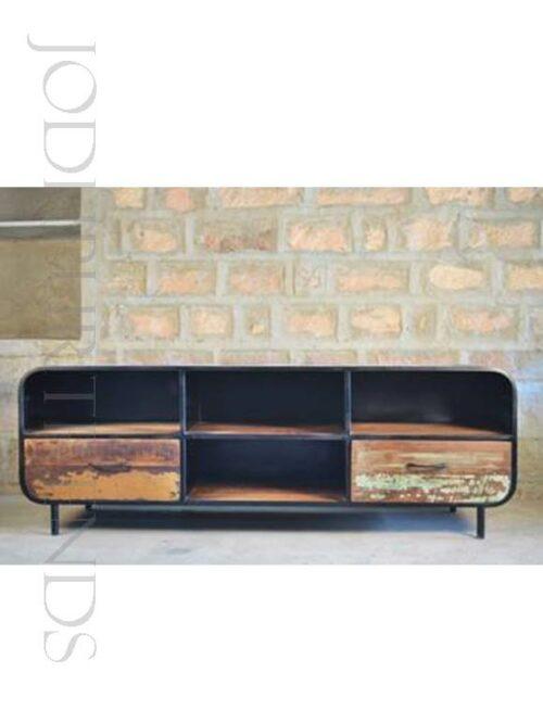 Industrial Design TV Center Unit | Industrial Styled Furniture
