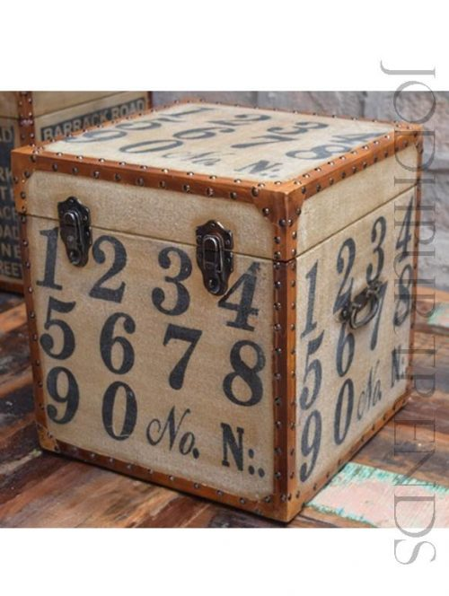 Storage Ottoman with Scroll | Buy Cafe Chairs