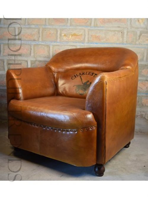 Tub Armchair in Leather | Sofa Leather Modern