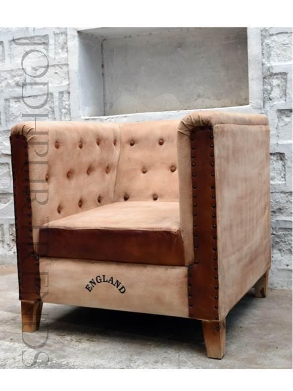 Chesterfield Armchair in Cream | Home Furniture Sofa Set