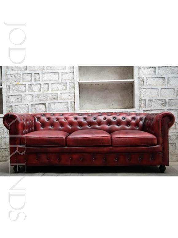 Large Chesterfield Sofa in Genuine Leather | Chesterfield Sofa Genuine Leather