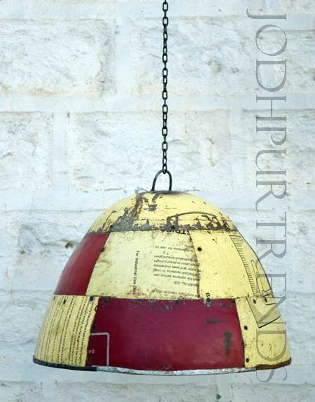 Multicolor Hanging Lamp | Wholesale Rustic Furniture