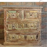 Dresser in Reclaimed Wood   Indian Carved Wood Furniture