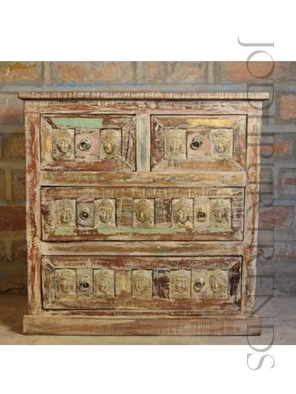 Dresser in Reclaimed Wood | Indian Carved Wood Furniture