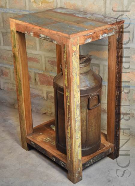 Cafe Dining in Old Reclaimed Wood   Wooden Furniture India